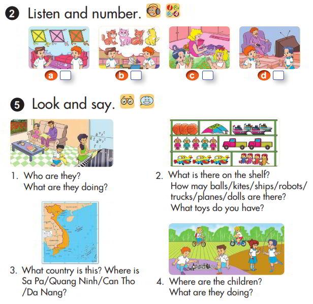 Giải chi tiết bài tập sách giáo khoa tiếng Anh lớp 3 review 4