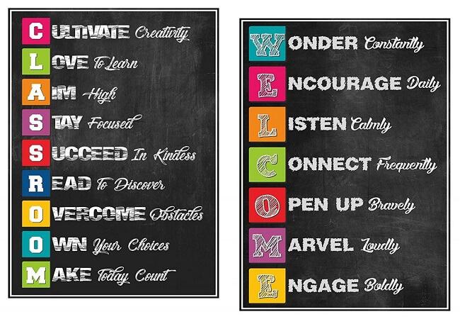 Game Chalkboard Acronym học từ vựng cho học sinh tiểu học