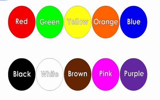 Chủ đề từ vựng tiếng Anh lớp 1 về màu sắc
